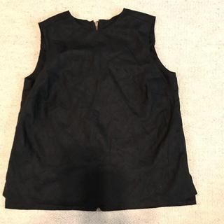 プラージュ(Plage)のplage 黒リネン ノースリーブシャツ タンク(シャツ/ブラウス(半袖/袖なし))