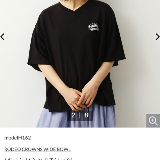 RODEO CROWNS WIDE BOWL(ロデオクラウンズワイドボウル)のロデオクラウンズ   VネックTシャツ レディースのトップス(Tシャツ(半袖/袖なし))の商品写真