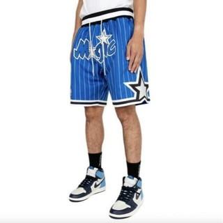 ミッチェルアンドネス(MITCHELL & NESS)のオーランドマジック バスパン JUST DON ショーツ 未使用 青 NBA(ショートパンツ)