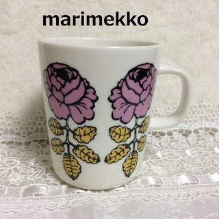 marimekko - 残り僅か! マリメッコ ヴィヒキルース ピンク×イエロー マグ 1点