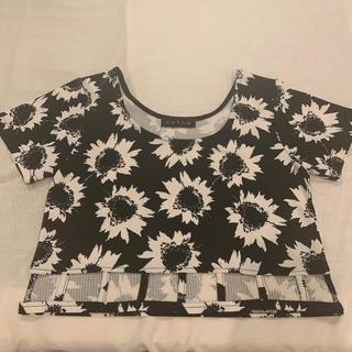 アンビー(ENVYM)のENVYM フラワー柄カッティングトップス(Tシャツ(半袖/袖なし))