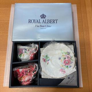 ロイヤルアルバート(ROYAL ALBERT)の【新品未使用】ROYAL ALBERT カップ&ソーサ 2脚セット(グラス/カップ)