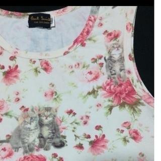 ポールスミス(Paul Smith)のポールスミス 120cm 猫と花柄トップス(Tシャツ/カットソー)