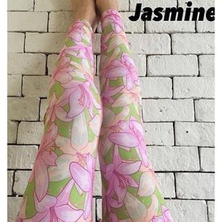 Jasmineヨギンス ピンクフラワーLサイズ(ヨガ)