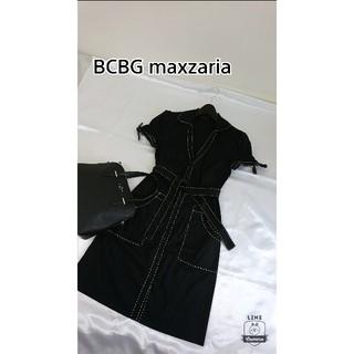ビーシービージーマックスアズリア(BCBGMAXAZRIA)の美品♪ BCBGmaxzaria シャツワンピース(ひざ丈ワンピース)