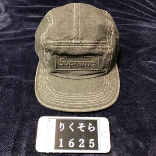 シュプリーム(Supreme)の断 16SS Supreme Embossed Denim Camp Cap 黒(キャップ)