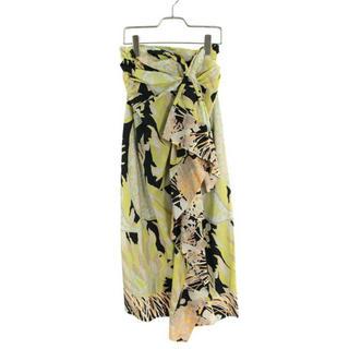 ドリスヴァンノッテン(DRIES VAN NOTEN)の今月末まで 45%+15%OFF 新品 未使用 ボタニカル柄ラップ風スカート(ロングスカート)