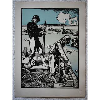 1897年-1899年アンティーク・リトグラフ「LOUPS DE MER」(版画)