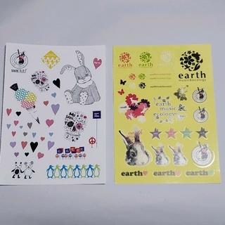 アースミュージックアンドエコロジー(earth music & ecology)のearth music&ecology ステッカー ほか10周年記念日(ステッカー(シール))