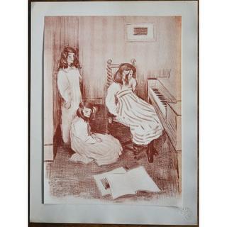 1897年-1899年アンティーク・リトグラフ「Bouderie」(絵画/タペストリー)