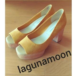 ラグナムーン(LagunaMoon)のLAGUNAMOON★秋カラー♪オープントゥサンダル22.5~23cm(サンダル)