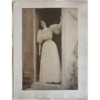 1897年-1899年アンティーク・リトグラフ「Le Dpart」(絵画/タペストリー)