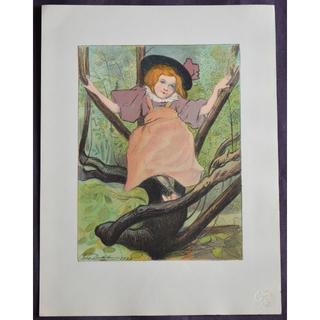1897年-1899年アンティーク・リトグラフ「Kacia 」(絵画/タペストリー)