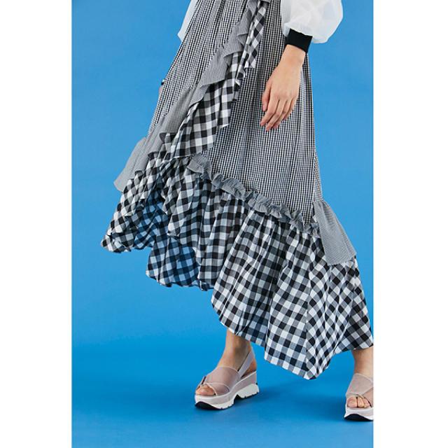 snidel(スナイデル)のSNIDEL❤️イレヘムフリルギャザースカート レディースのスカート(ひざ丈スカート)の商品写真