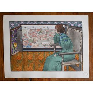 1897年-1899年アンティークリトグラフ「SOLVEIG」(絵画/タペストリー)
