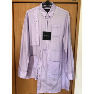 ラフシモンズ(RAF SIMONS)のYUKI HASHIMOTO アシンメトリーシャツ(パープル)(シャツ)