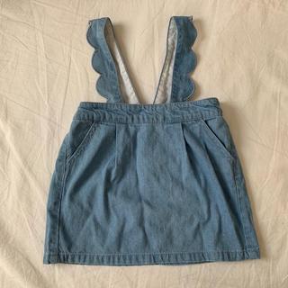 プティマイン(petit main)のpetit main デニム スカート ジャンパースカート(スカート)