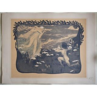 1897年-1899年アンティーク・リトグラフ「L'illusion」(絵画/タペストリー)