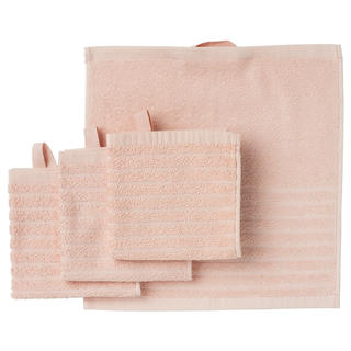イケア(IKEA)のIKEA  タオルハンカチ 4枚 セット ペールピンク イケア(タオル/バス用品)