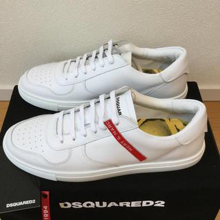 ディースクエアード(DSQUARED2)の【新品】DSQUARED2 ホワイトスニーカー ディースクエアード(スニーカー)