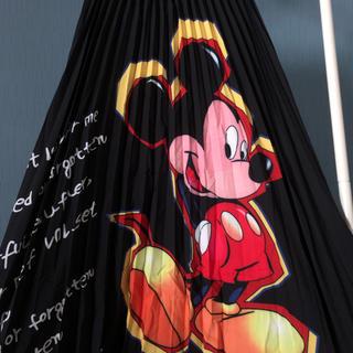 ディズニー(Disney)のミッキー スカート ミッキーマウス ディズニー プリーツ ロングスカート(ロングスカート)