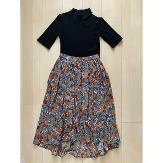 ViS - 花柄ロングスカート