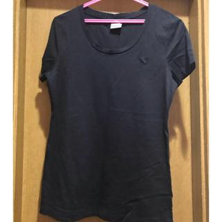 プーマ(PUMA)のプーマ  ロゴのみのシンプルな黒T(Tシャツ(半袖/袖なし))