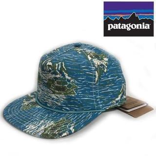 patagonia - patagonia パタロハ 限定品 キャップ ヴィンテージ総柄 青180623