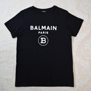 バルマン(BALMAIN)の【新品・未使用】BALMAIN KIDS ロゴ Tシャツ ブラック 14Y(Tシャツ/カットソー)