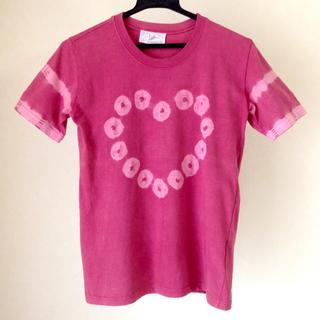 ディズニー(Disney)の【東京ディズニーランドで購入】 半袖 Tシャツ ハート 絞り レディース(シャツ/ブラウス(半袖/袖なし))