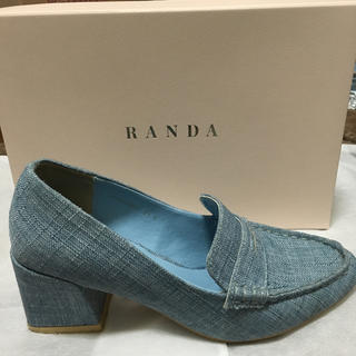 ランダ(RANDA)のデニムローファー*RANDA(ローファー/革靴)