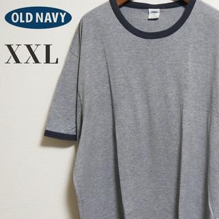 オールドネイビー(Old Navy)のOLD NAVY オールドネイビー ビッグサイズ リンガー Tシャツ XXL(Tシャツ/カットソー(半袖/袖なし))