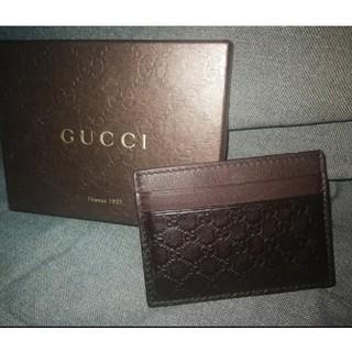 グッチ(Gucci)の[全新未用品] Gucci カードケース/ 名刺入れ (茶色) (名刺入れ/定期入れ)