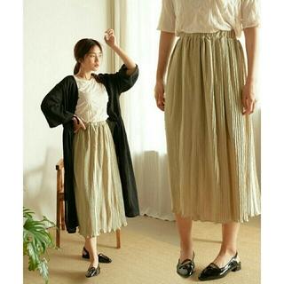 アンティローザ(Auntie Rosa)のNeuna  イレギュラープリーツスカート(ロングスカート)