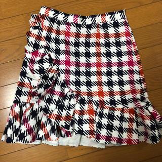 レッドヴァレンティノ(RED VALENTINO)の美品 RED VARENTINO チェックミニスカート(ミニスカート)
