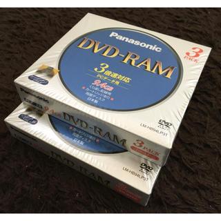 パナソニック(Panasonic)のPanasonic DVD-RAM LMHB94LP3 2パックセット(PC周辺機器)