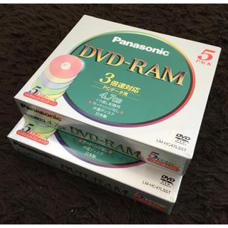 パナソニック(Panasonic)のPanasonic DVD-RAM LM-HC47LS5T 2パックセット(PC周辺機器)