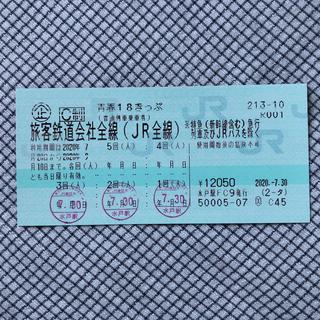 青春18きっぷ 1回 8/8AM発送(鉄道乗車券)