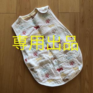 アカチャンホンポ(アカチャンホンポ)の6重ガーゼスリーパー 水通しのみの美品(パジャマ)