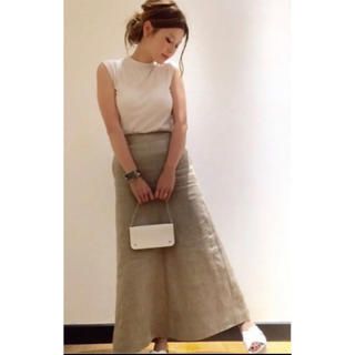 ドゥーズィエムクラス(DEUXIEME CLASSE)のマディソンブルー リネンマキシスカート (ロングスカート)