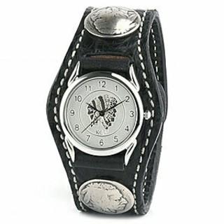 ケイシイズ(KC,s)の【新品未使用】KC'S ウォッチブレス 3コンチョ クロコダイル ブラック(腕時計(アナログ))