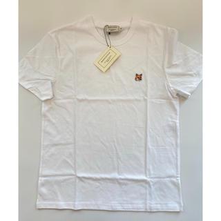 メゾンキツネ(MAISON KITSUNE')の【Sサイズ】新品 メゾンキツネ Maison Kitsune Tシャツ ホワイト(Tシャツ(半袖/袖なし))