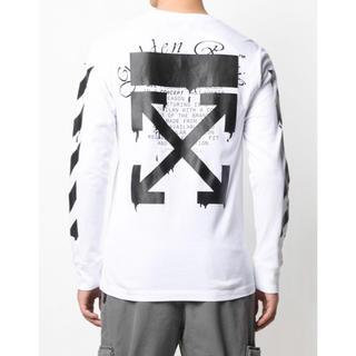オフホワイト(OFF-WHITE)のoff-white dripping arrows 長袖Tシャツ(Tシャツ/カットソー(七分/長袖))