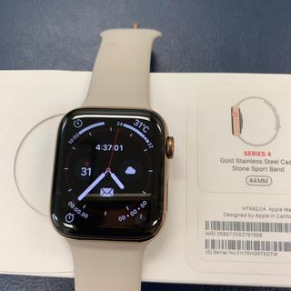 アップルウォッチ(Apple Watch)のapple watch series4 ゴールド44㎜ ステンレス セルラー(腕時計(デジタル))