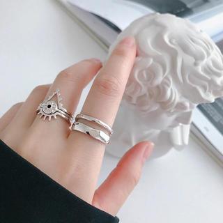 新品 ♡ シルバーリング 925 レイヤード風(リング(指輪))