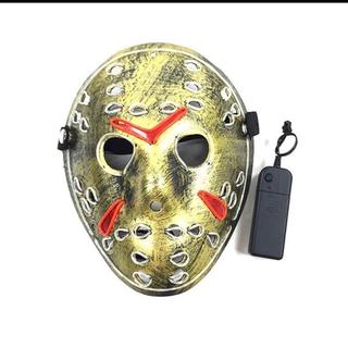 新品 ハロウィンマスク   LED光る仮面 ジェイソン仮面(小道具)