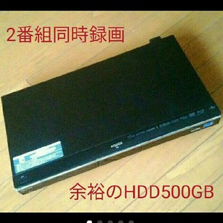 SHARP - 2番組同時録画 HDD500GB BD-HDW75