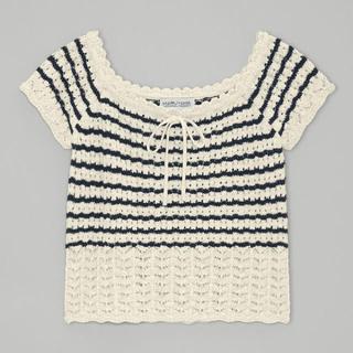 GU - 【GU】透かし編みセーター (半袖)   ♡GU×KEITA MARUYAMA♡