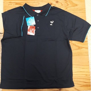 ピーナッツ(PEANUTS)の新品タグ付き 紺 スヌーピー ビッグポロシャツ(ポロシャツ)