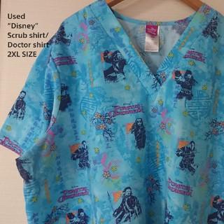 ディズニー(Disney)の☆US古着ディズニー/PIRATES OF CARIBBEAN/スクラブシャツ(シャツ/ブラウス(半袖/袖なし))